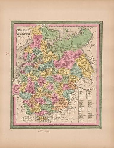 Amazon Com Russia In Europe Vintage Map Original Russian Decor