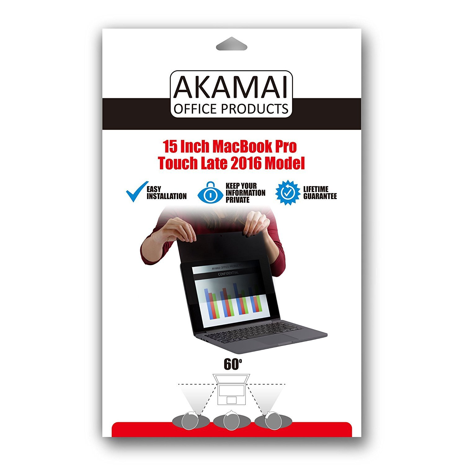MacBook Privacy Screen Filters Anti-Glare (New 15 inch MacBook Pro Touch/Non-Touch-Late 2016) by Akamai Office Products (Image #8)