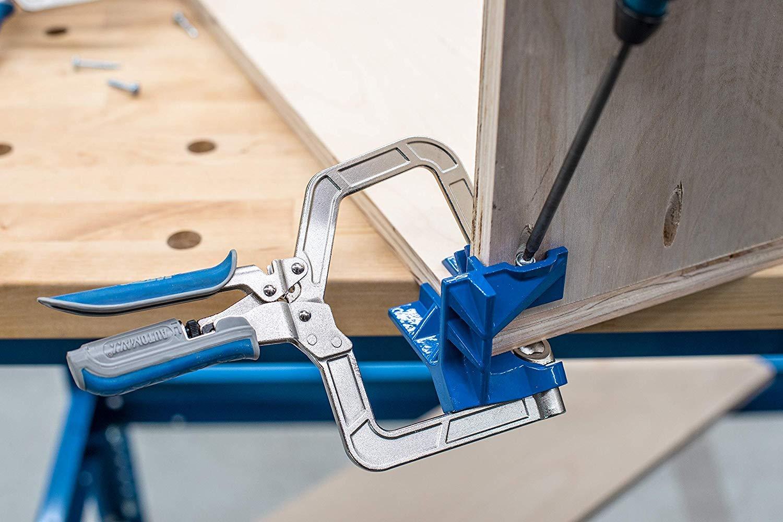 KHCCC Morsetto angolare a 90 /° Ingegnere installatore di punzoni fissi Maschere angolari per legno Regolabile automaticamente Angoli angolari a 90 /° Giunti e giunti a morsetto Attrezzi per gadget