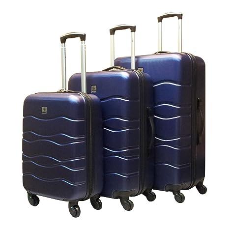 Benzi hartschäliger Trolley Set de 3 piezas Wave Azul