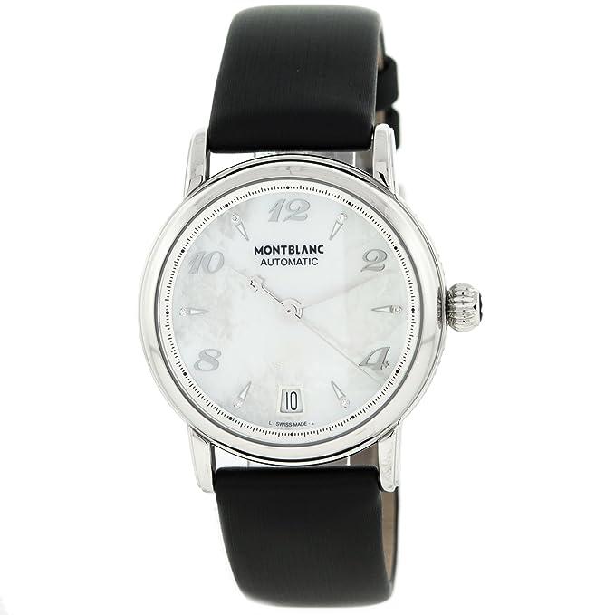 Montblanc Meisterstuck 107118 - Swiss Made automático de acero inoxidable reloj de pulsera para mujer: Amazon.es: Relojes