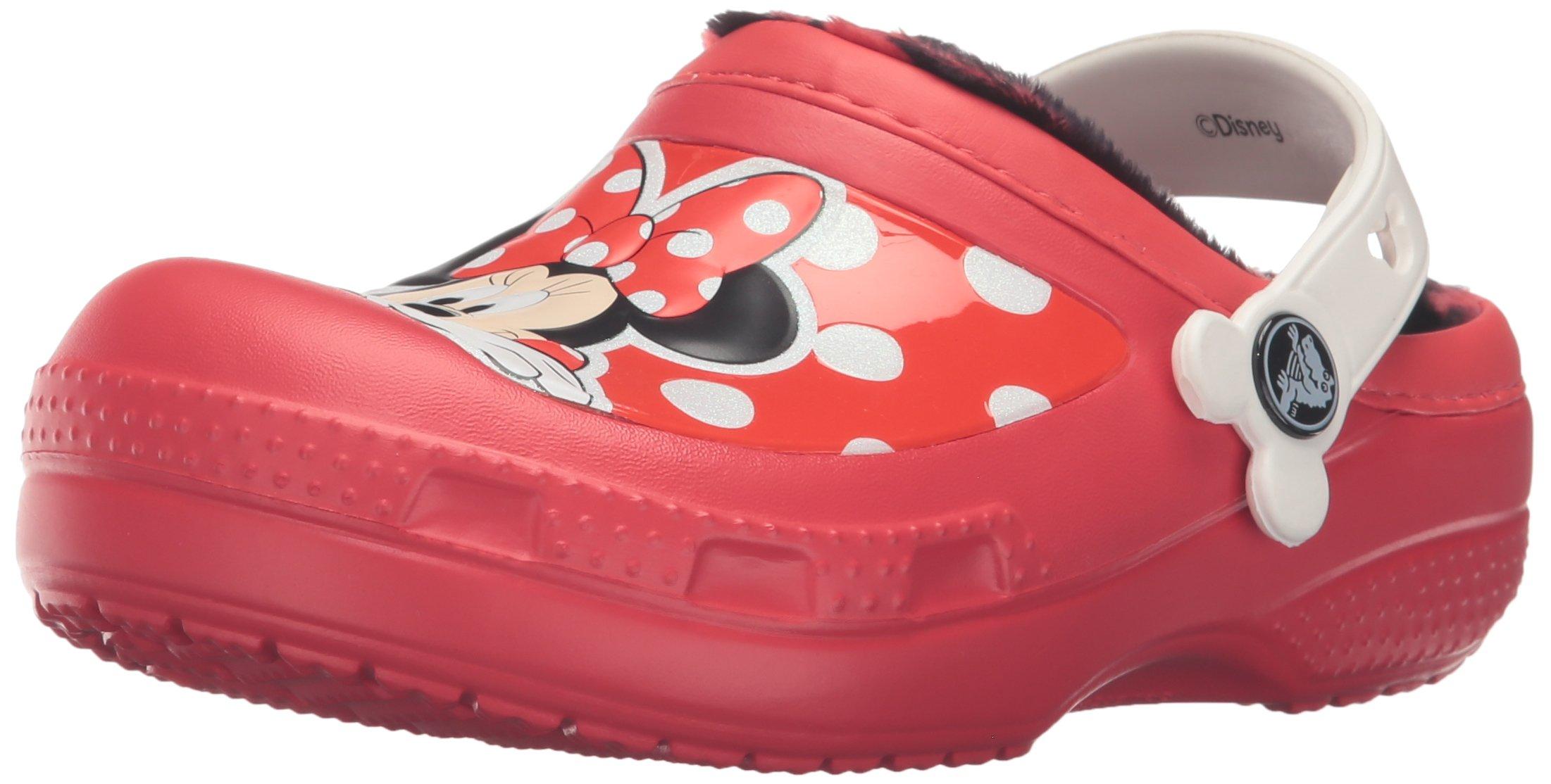 Crocs CC Minnie Lined Clog (Toddler/Little Kid), Pepper, 12/13 M US Little Kid