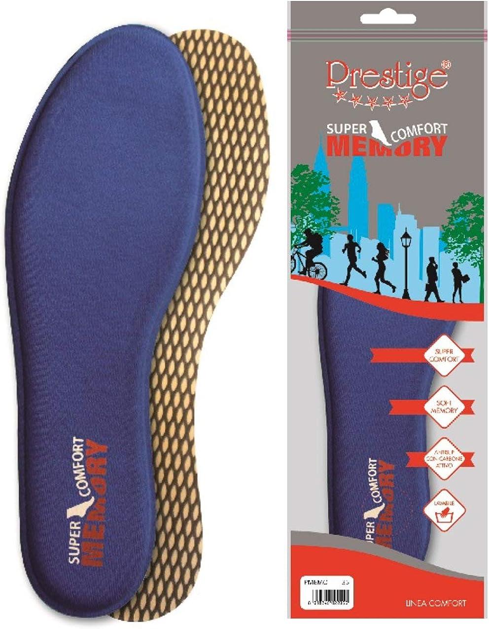 Plantillas Memory Form Espuma Prestige ortopédica Plantillas blandas ortopédicas de látex suaves para la suela de los zapatos Azul Size: 40
