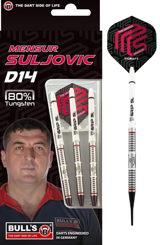 Softdart 18g Bulls Mensur Suljovic D14 18 Gr. 80/% Tungsten