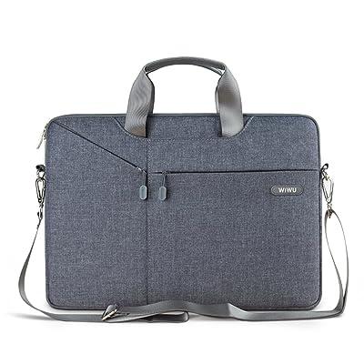 13 - 13.3 Inch Laptop Bag, EKOOS Laptop Sleeve Case Messenger Computer Waterproof Shoulder Bag Notebook Carrying Case for Macbook Pro / Air, Surface Laptop 2017, 12.9 Inch iPad Pro (13.3, Grey)
