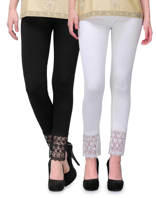2Day Women's Cotton Viscose Plazzo Legging Combo