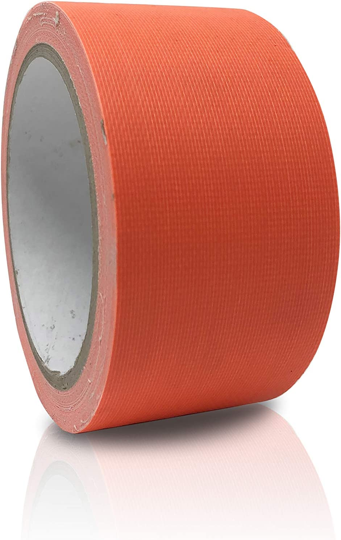 Fluoreszierend Gaffa Tape 50mm x 10m Klebeband UV Duct Tape temperaturbest/ändig Premium Neon Klebeband matt Orange breit und wasserabweisend