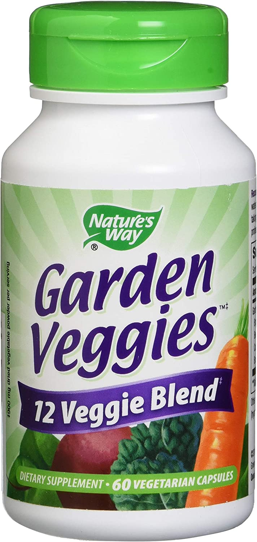 Nature's Way Nature's Way Garden Veggies, 12 Veggie Blend, 60 Vegetarian Capsules, 60 Count (Pack of 12)