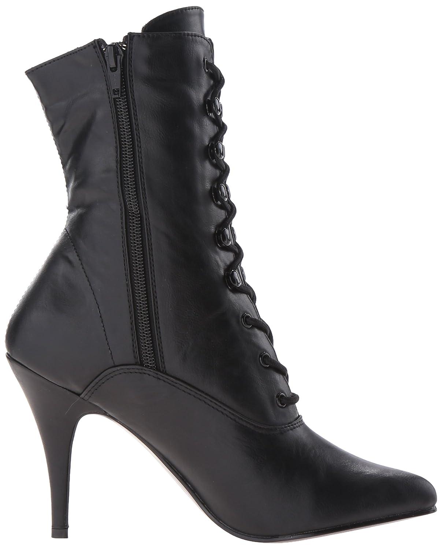 Pleaser Women's VAN1020/BPU Boot B00SUT07NS 14 B(M) US|Black Faux Leather