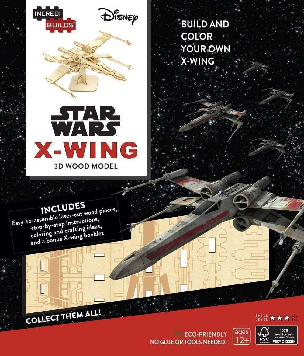 Insight Editions Star Wars X-Wing 3D Wood Model /& Booklet Standard