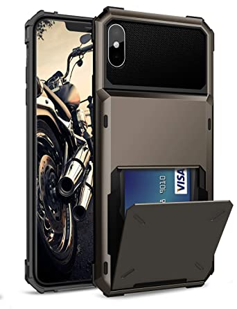 Amazon.com: ELOVEN Funda para iPhone Xs Max, [Ranura para ...