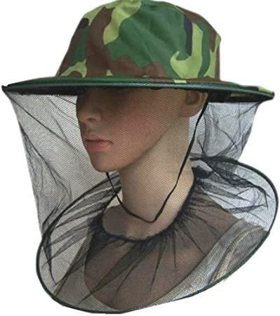 Large Brim Beekeeper Anti-bite Hat Anti-mosquito Mask Cap w//Face Protective Net