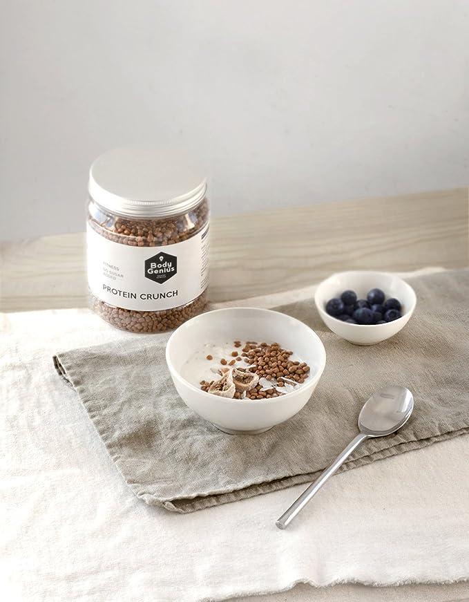 Body Genius Protein Crunch. Bolitas de proteína recubiertas de chocolate sin azúcar. 500 gr (Bombón de Dulce de Leche)): Amazon.es: Alimentación y bebidas