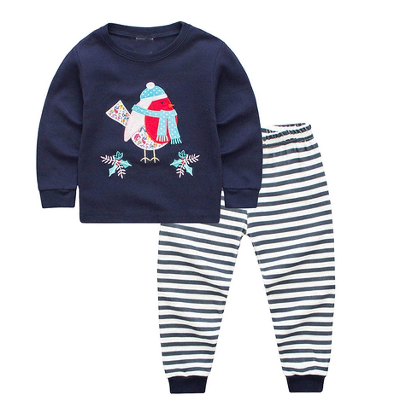 Mengmeng Boy Pajamas 100/% Cotton Dinosaur Toddler Pjs Sleepwear Kids Clothes Pant Set