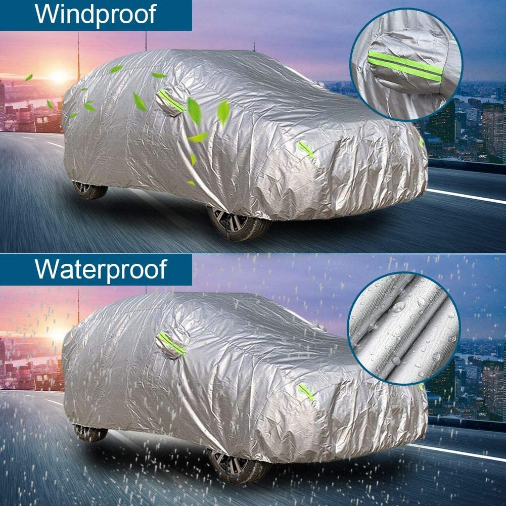 183x70x66 ATMOMO Outdoor Car Protection Cover for All Season UV Protection Waterproof Windproof Dustproof Snowproof-YM