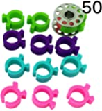 PeavyTailor 50 Pcs Thread Bobbin Holders Clips Great for embroidery, quilting and sewing thread