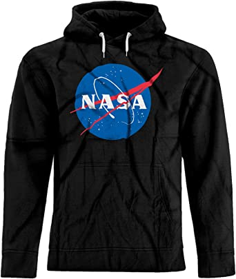BSW Mens Nasa Space Astronomy Premium Hoodie XL Charcoal