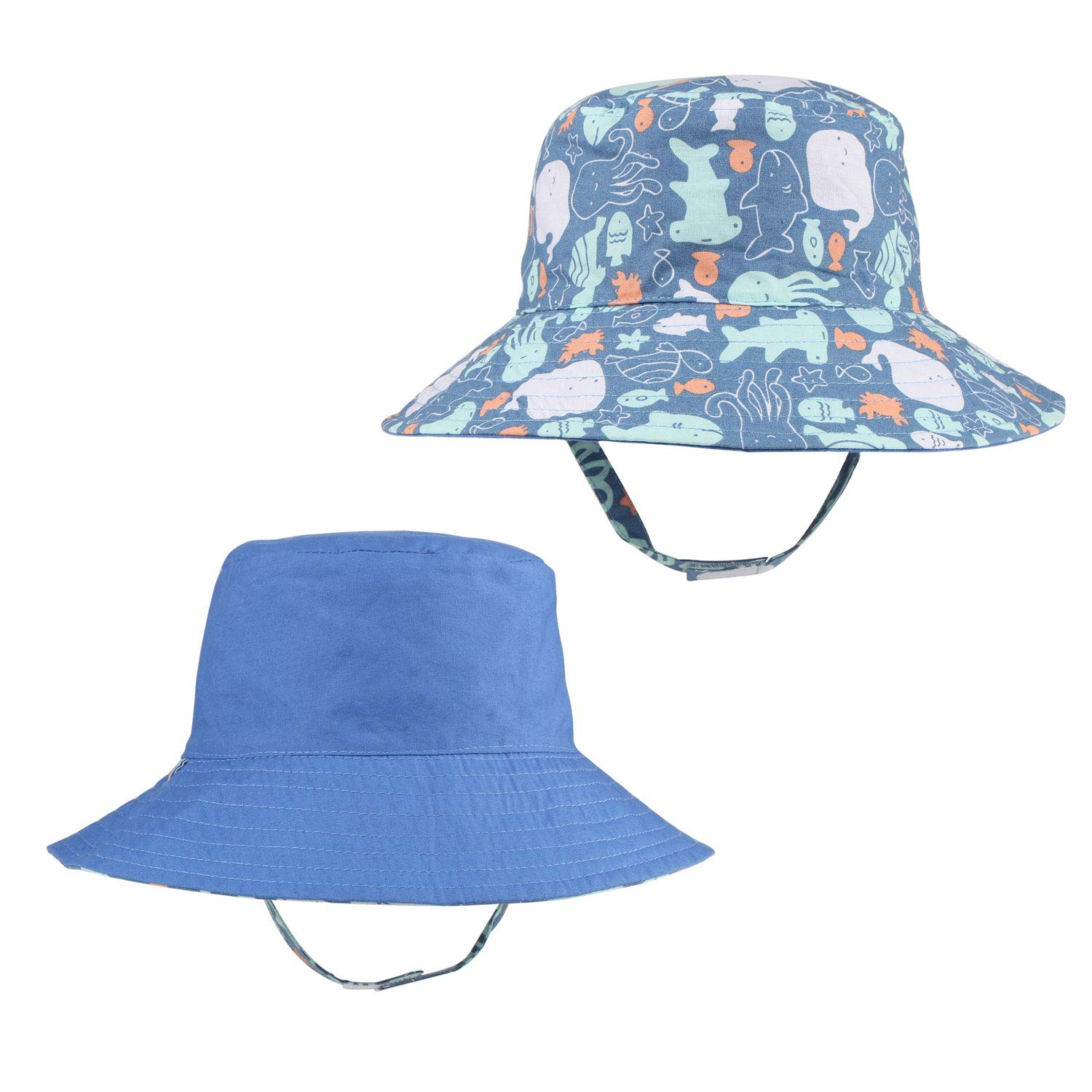 Hats Baby Boy Dinosaur Cotton Sun Hats with Chin Strap & Caps Navy Dino  Adjustable Clothing, Shoes & Accessories