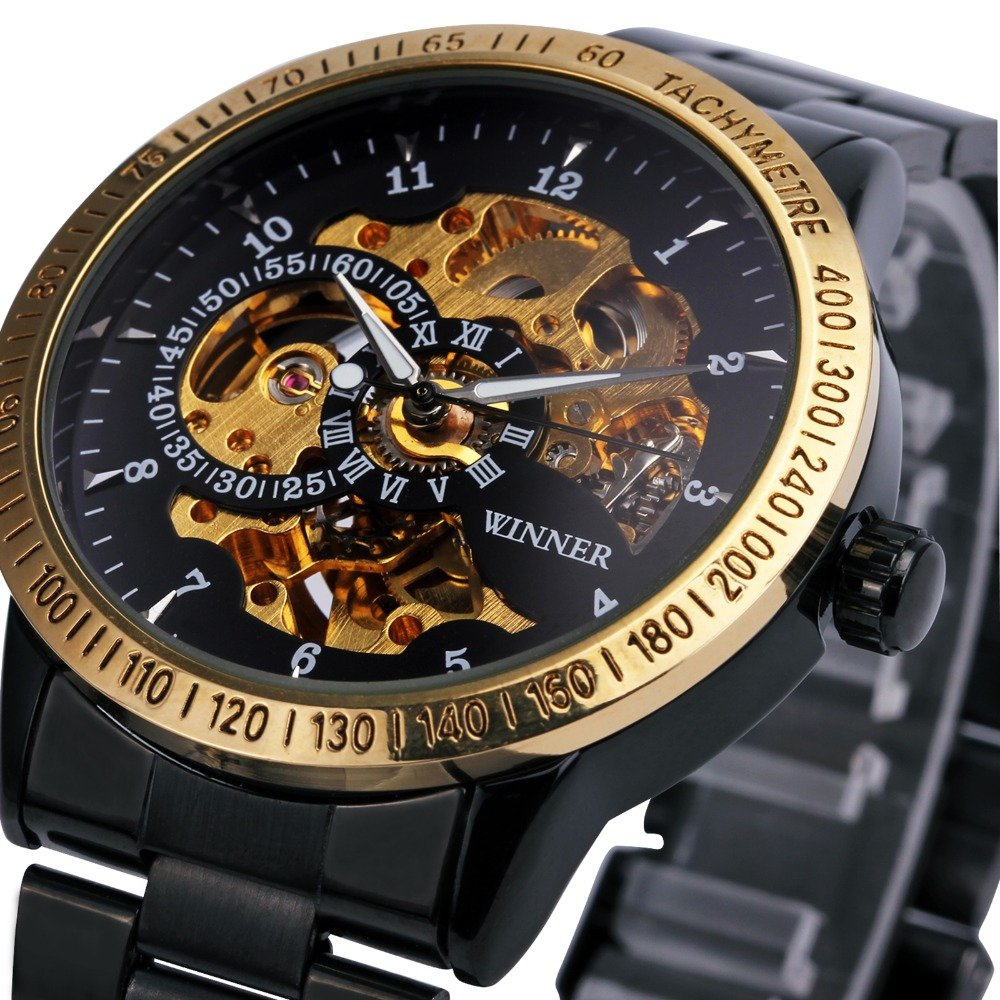 Amazon.com: Winner Luxury Sport Clock Men Automatic Watch Skeleton Military Mechanical Watch Relogio Male Montre Relojes Mens Watch: Watches