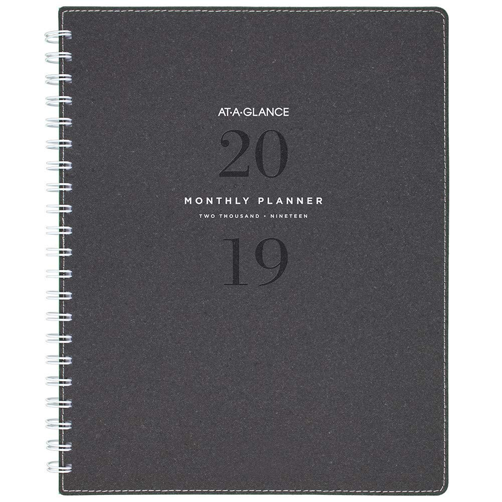 AT-A-GLANCE 2019 Monthly Planner, 8-1/2' x 11', Large, Signature, Heather Gray (YP90045) 8-1/2 x 11 ACCO Brands YP9004519