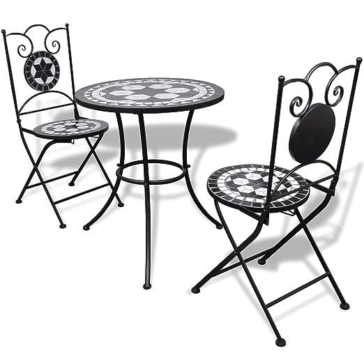LD mesa de jardín de mosaico mosaico mesa mosaico Bistro silla ...