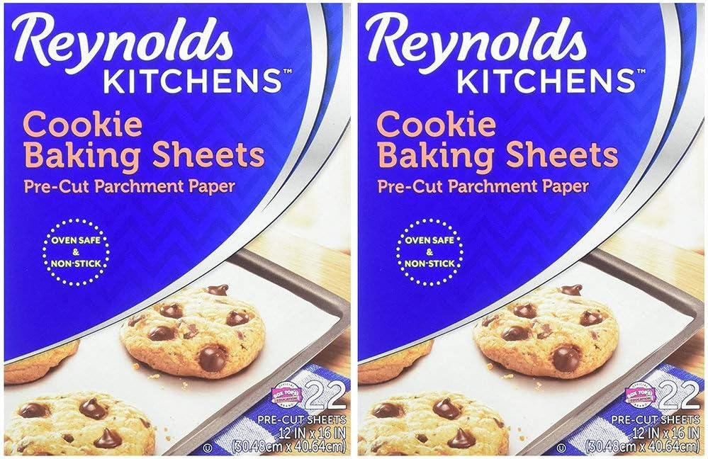 22 Sheets Value Pack dlbodX Kitchens Cookie Baking Sheets Parchment Paper Non-Stick