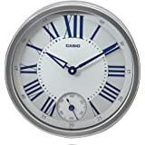 Casio Round Resin Wall Clock (IQ-70-8DF, Silver)