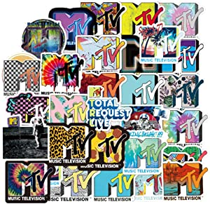[FOCUS's Stickers]100Pcs Fashion MTV Stickers for Laptop Cellphone Water Bottle Hydro Flask Skateboard Luggage Car Bumper, etc FXQX