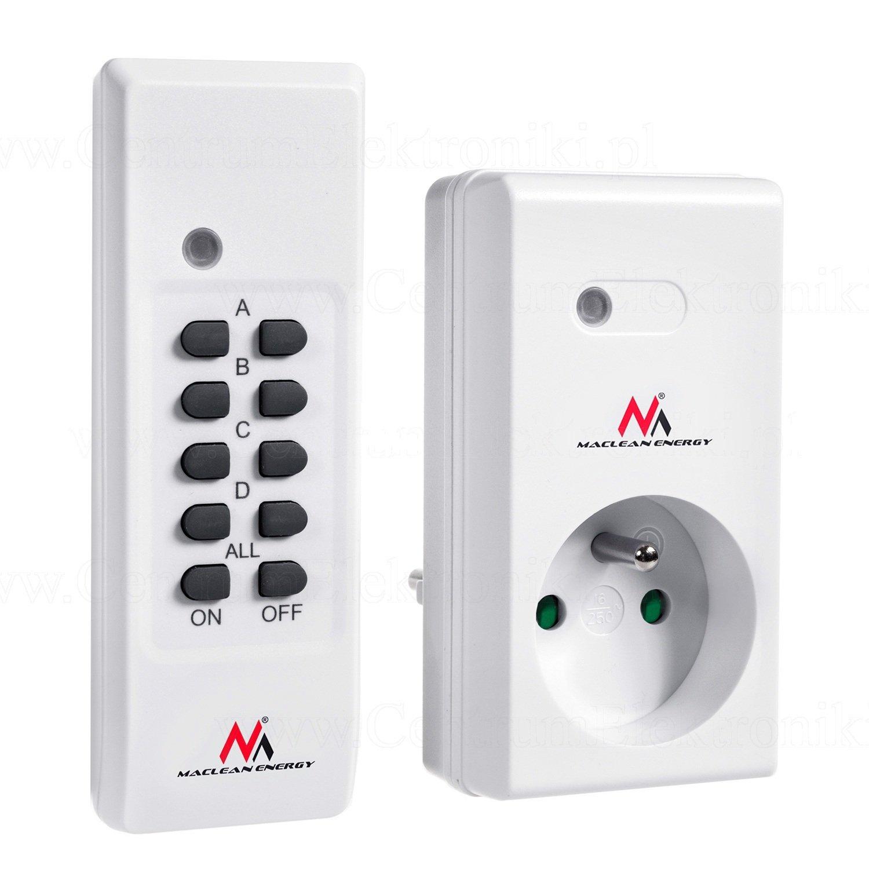 Maclean mce151 –  Juego de cambios –  Juego de enchufe con mando a distancia Max. 3600 W Color Blanco (1)