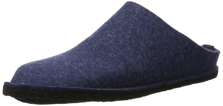 Haflinger Smily 311013, Unisex - Erwachsene Pantoffeln, Blau (kapitän 79), EU 44