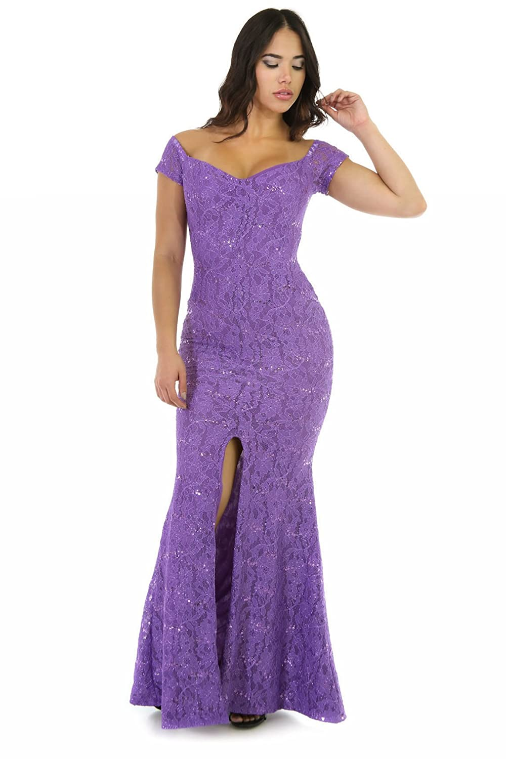 3ebef29e6c2 Amazon.com  GITI ONLINE Glitter Maxi Dress Jade  Clothing