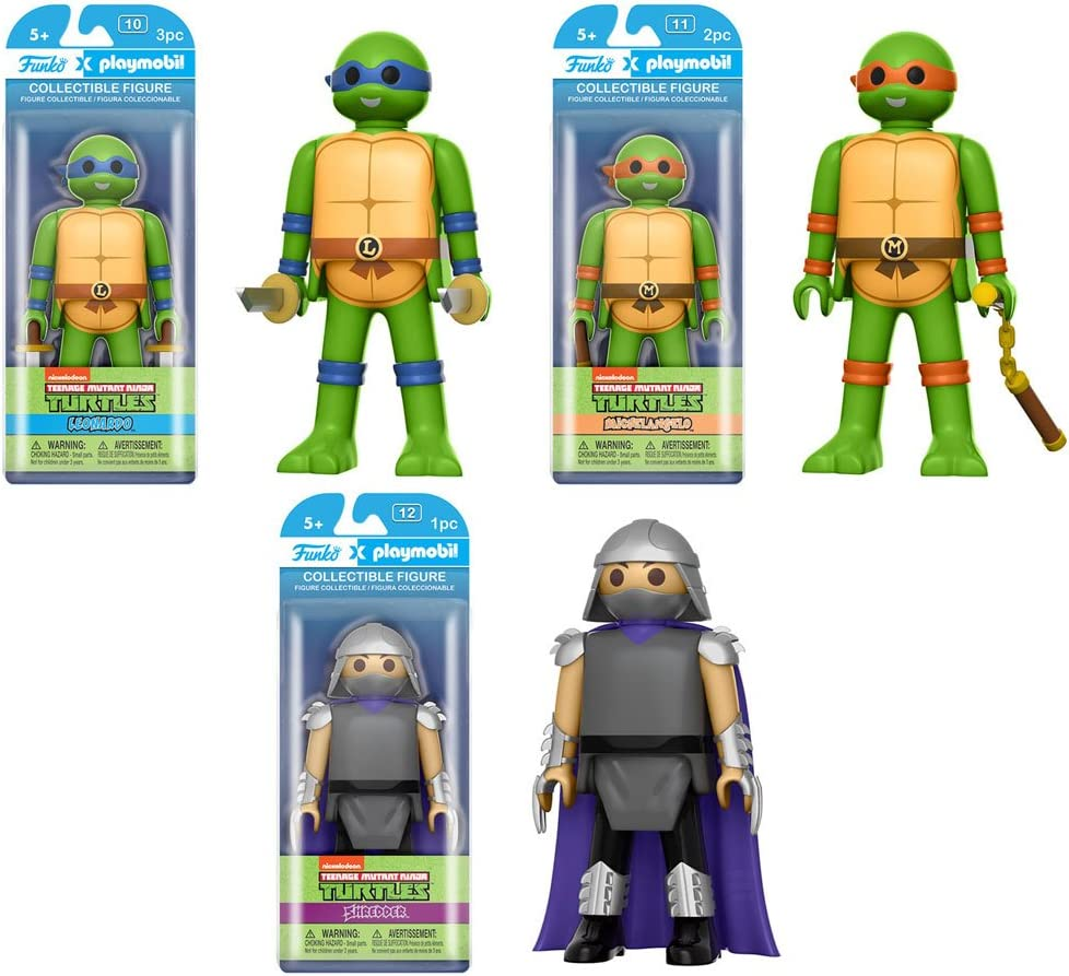 Amazon.com: Funko Playmobil Teenage Mutant Ninja Turtles Set ...