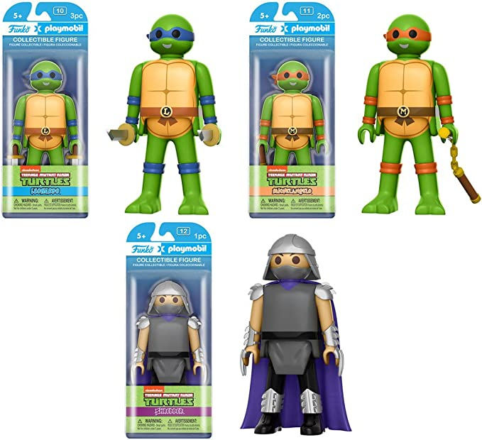 Amazon.com: Funko Playmobil Teenage Mutant Ninja Turtles Set ...