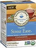 Traditional Medicinals Organic Stress Ease Cinnamon Tea, 16 Tea Bags (Pack of 6)