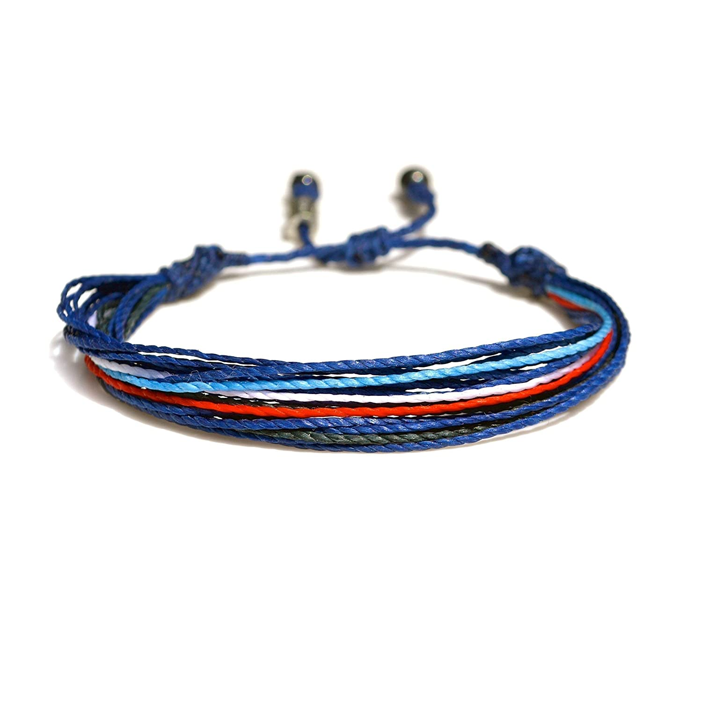 06104b95394c7 Amazon.com: Unisex Adjustable Surfer String Bracelet in Blue, Navy ...