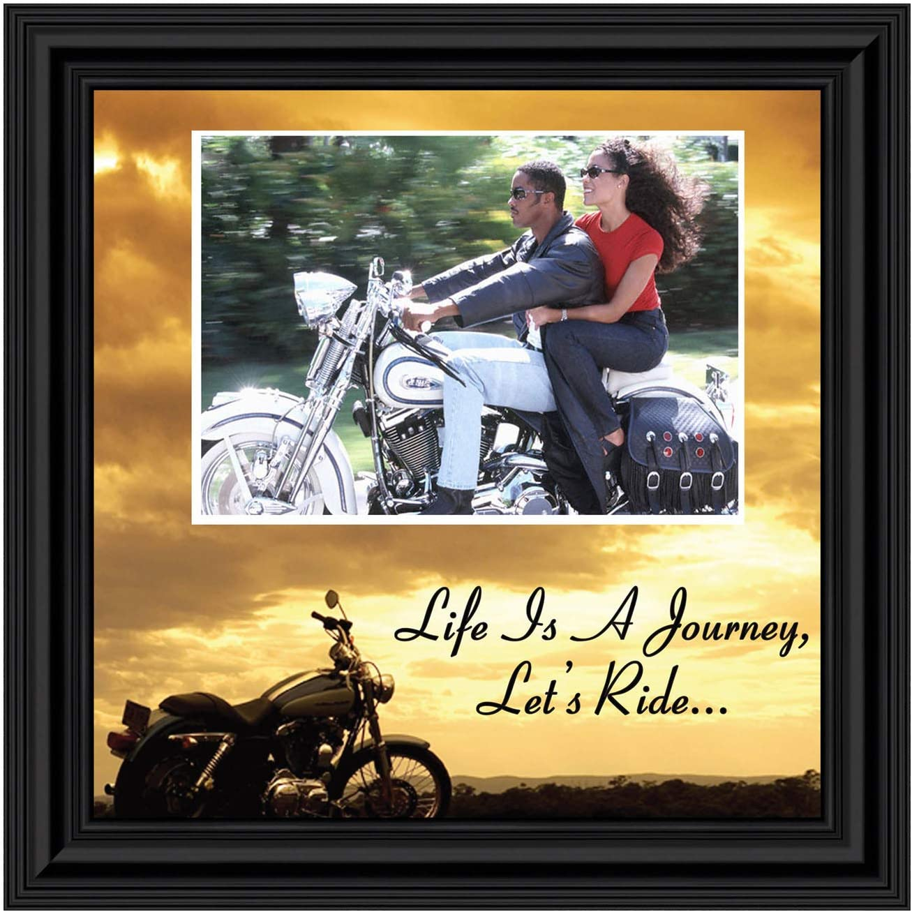 Amazon Com Classic Harley Picture Frame Harley Davidson Gifts For Men Harley Davidson Gifts For Women Harley Davidson Wedding Gifts Biker Motorcycle Accessories For Men Unique Motorcycle Wall Decor 9764b Decorative