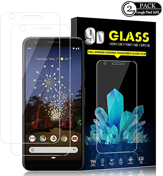 3Pack-Clear Case Friendly 9H Hardness Google Pixel 3a XL Screen Protector, Tempered Glass 3Pack Compatible for Google Pixel 3a XL // 3 Lite XL 2019 Bubble Free Anti-Scratch