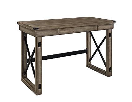 uk availability 1f8a6 30e54 Ameriwood Home Wildwood Wood Veneer (1-Piece Desk, Rustic Gray)
