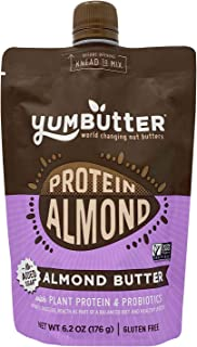 product image for Protein Almond Butter by Yumbutter, Plant Based Protein with Probiotics, Keto Nut Butter, Paleo, Gluten Free, Vegan, Non GMO, 6.2oz Pouch