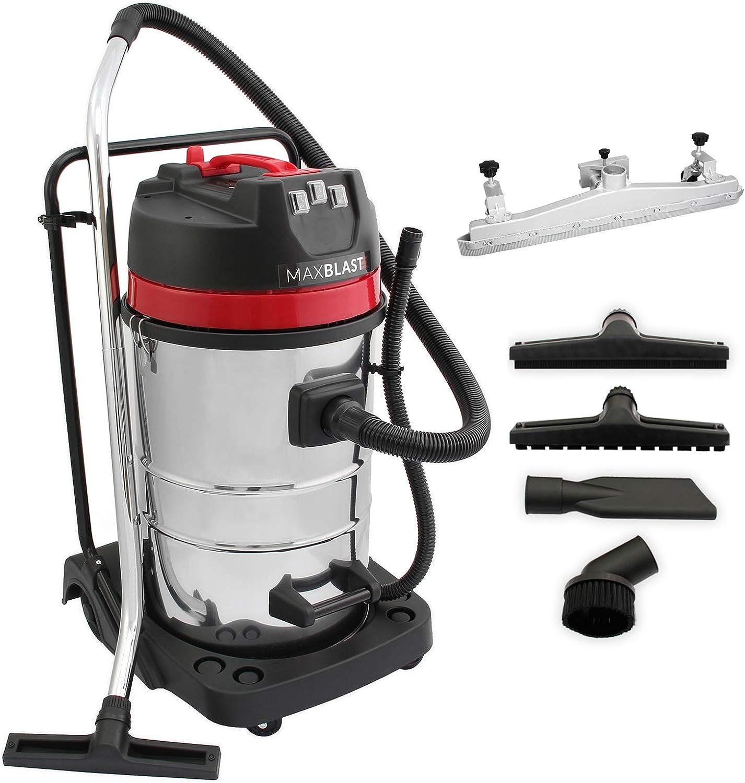 MAXBLAST - Aspiradora Comercial MAXBLAST de 80 litros con Accesorio para Arrastre: Amazon.es: Hogar