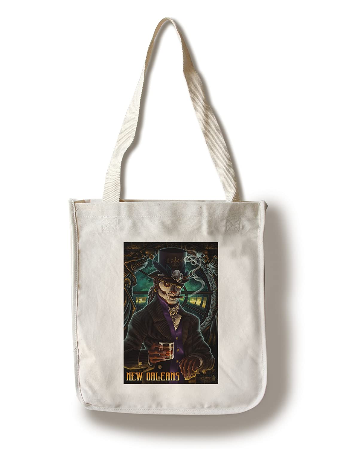 Baron Samedi Voodoo – ニューオーリンズ、ルイジアナ州 Canvas Tote Bag LANT-44947-TT B018819UGM Canvas Tote Bag