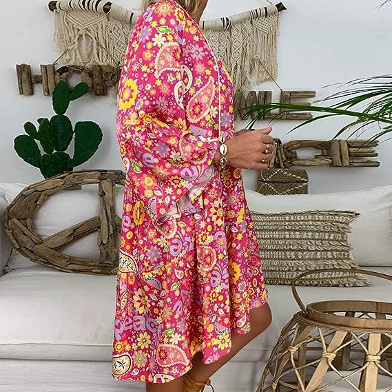 Wave166 Ropa de Baño Camisolas Playa Mujer Camisolas Pareos Borla Verano Bikini Vestido de Playa Traje de Baño Cover Up