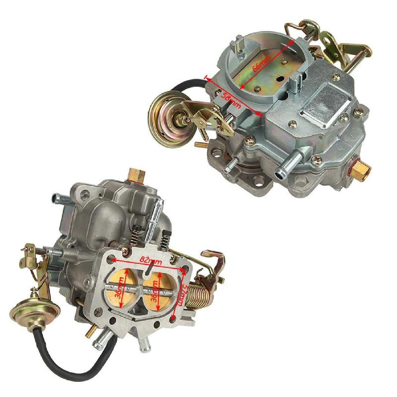 Partol Carburetor Carb for 1966-1973 Dodge Plymouth/Dodge Truck with  273-318 Engine - Manual Choke
