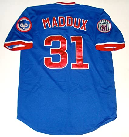 uk availability 98098 9a10c Greg Maddux Autographed Jersey (Cubs) at Amazon's Sports ...
