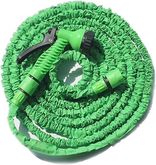 BYCDD Mangueras de jardín Extensible Manguera Agua, Ligera Evita Enredos Manguera Libre Flexible 7 Patrones De PulverizacióN con Conectores de 1/2, 3/4 Pulgadas, Green_75FT/22.5M: Amazon.es: Jardín