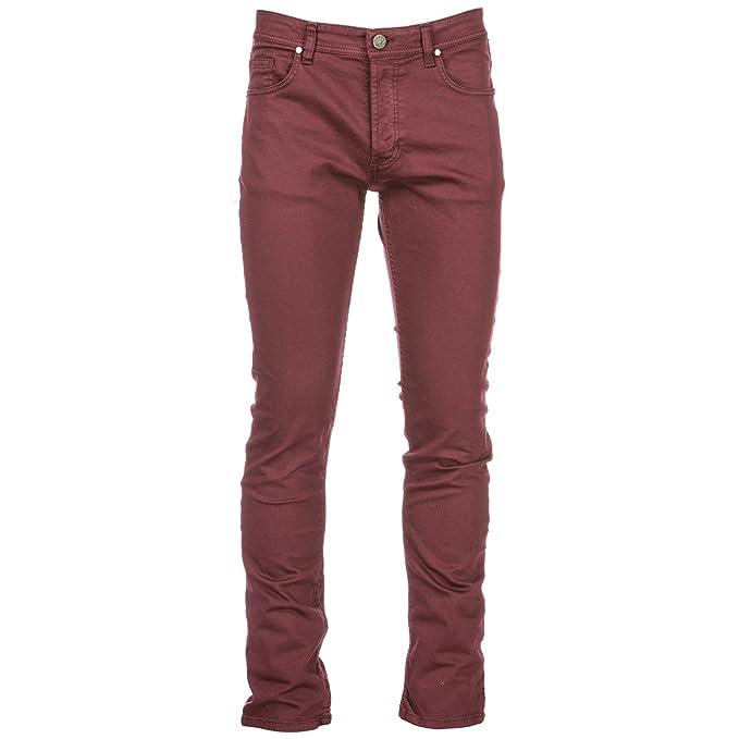928d20b2d3 Versace Jeans Jeans Uomo Slim Fit Bordeaux: Amazon.it: Abbigliamento