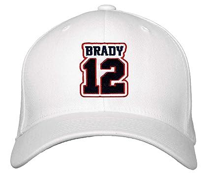 Tom Brady No  12 Hat - Adjustable Unisex White Football Cap
