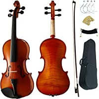 Aliyes Premium Violin 4/4 Full Size Professional Student Violin For Beginner Solid Wood Violin Kit String,Shoulder Rest…