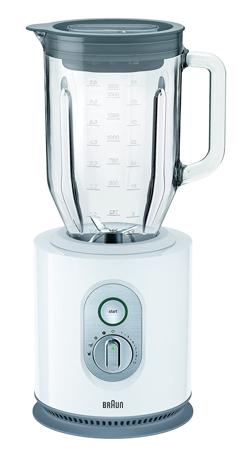 Braun JB5160 WH 1.6 Liter 1000 Watt Glass Jar Blender, 220V (Non-USA Compliant), White