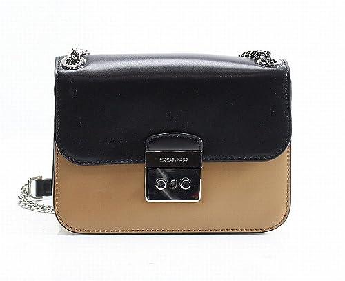 2c339ab6f3f576 MICHAEL Michael Kors Editor Sloan Color-Block Leather Large Chain Crossbody  Bag, Cashew Black: Amazon.ca: Shoes & Handbags